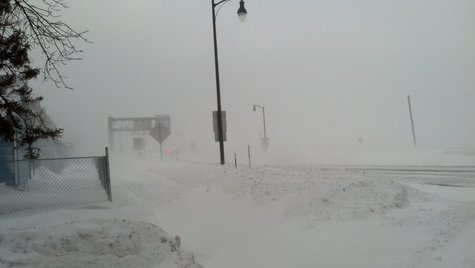 Blizzard hits Fargo January 26, 2014