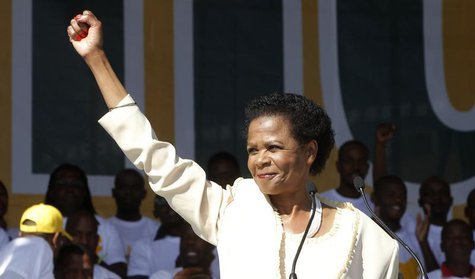 "Anti-apartheid activist Mamphela Ramphele launches her new political party ""Agang"" to challenge South Africa's ruling African National Congr"