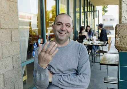 "Palestinian director Hany Abu-Assad, of Oscar nominated foreign-language film ""Omar"" poses in Los Angeles, California, January 16, 2014. REU"