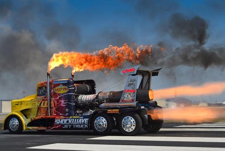 """Shockwave"" jet powered truck"