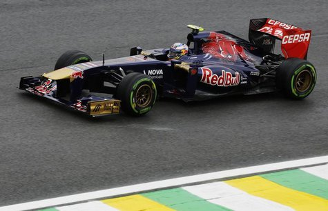 Toro Rosso Formula One driver Daniel Ricciardo of Australia drives during the qualifying session of the Brazilian F1 Grand Prix at the Inter