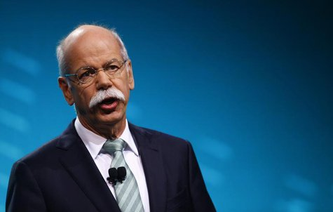 Chairman of Daimler AG and Head of Mercedes-Benz cars Dieter Zetsche speaks during the press preview day of the North American International