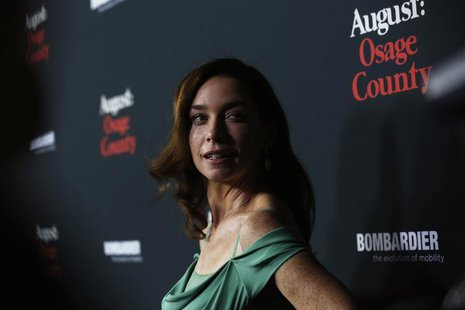 "Cast member Julianne Nicholson poses at the premiere of ""August: Osage County"" in Los Angeles, California December 16, 2013. REUTERS/Mario A"