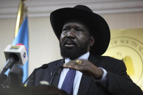 South Sudan's President Salva Kiir speaks during a news conference in Juba January 20, 2014. REUTERS/Andreea Campeanu