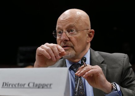 U.S. Director of National Intelligence James Clapper is pictured at a House Intelligence Committee hearing on Capitol Hill in Washington, Oc