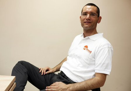 Nadav Kidron, CEO of Oramed Pharmaceuticals, poses for a photo at the company's offices in Jerusalem September 29, 2013. REUTERS/Baz Ratner