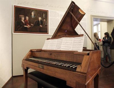 Wolfgang Amadeus Mozart's original Anton-Walter-piano is pictured at Mozart's former apartment in central Vienna October 25, 2012. REUTERS/H