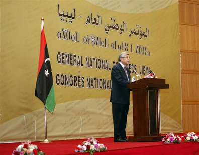 Nouri Abusahmain, president of the General National Congress (GNC), speaks during a ceremony in Tripoli January 30, 2014. REUTERS/Ismail Zit