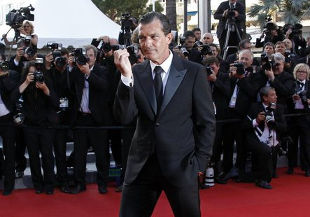 "Actor and director Antonio Banderas arrives on the red carpet for the screening of the film ""The Paperboy"" in competition at the 65th Cannes"