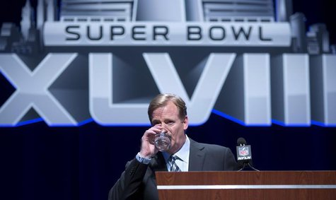 NFL Commissioner Roger Goodell speaks during a news conference ahead of the Super Bowl, in New York January 31, 2014. REUTERS/Carlo Allegri