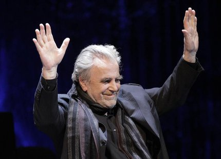 Austrian actor and Academy award winner Maximilian Schell performs on stage during the Red Ribbon Celebration Concert ahead of the 20th Life