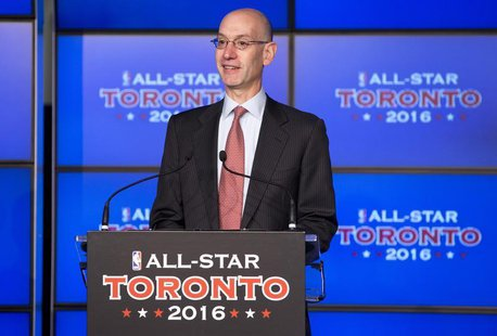 Deputy NBA commissioner Adam Silver speaks during an announcement that the Toronto Raptors will host the 2016 NBA All-Star game in Toronto,