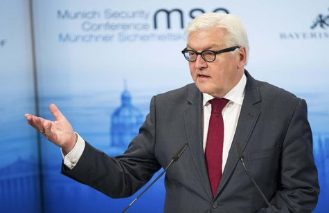 German Foreign Minister Frank-Walter Steinmeier gives his speech during the annual Munich Security Conference February 1, 2014. REUTERS/Luka