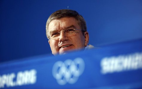 International Olympic Committee (IOC) President Thomas Bach attends a news conference in Sochi, February 3, 2014. REUTERS/Eric Gaillard