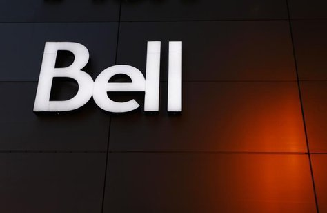 The Bell logo is seen on the company's building in downtown Montreal February 9, 2011. REUTERS/Shaun Best