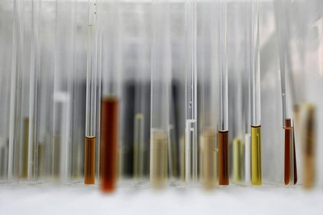 Sample analysis tubes are seen in a lab at the Institute of Cancer Research in Sutton, July 15, 2013. Picture taken July 15, 2013. REUTERS/S