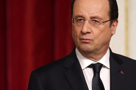 French President Francois Hollande attends a news conference at the Elysee Palace in Paris, February 3, 2014. REUTERS/Benoit Tessier