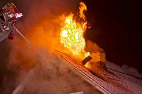 Firefighters battle house fire (photo courtesy of Sheboygan Scan)