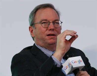 "Google Executive Chairman Eric Schmidt speaks during a talk titled ""Connecting with the World: Empowering Young Entrepreneurs for the New Di"