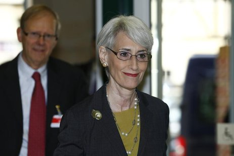 U.S. Under Secretary of State for Political Affairs Wendy Sherman arrives before the start of two days of closed-door nuclear talks at the U