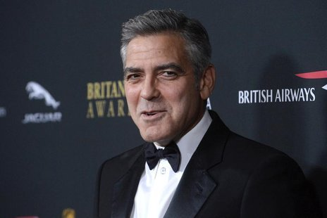 Actor George Clooney attends the BAFTA Los Angeles Britannia Awards in Beverly Hills, California November 9, 2013. REUTERS/Phil McCarten