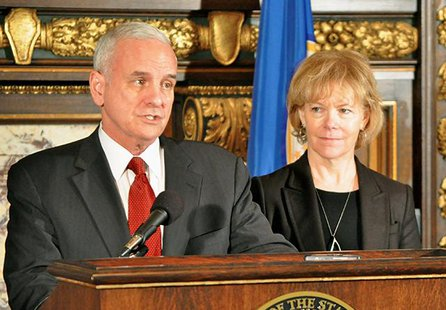 Governor Mark Dayton and running mate Tina Flint Smith. Office of the Governor
