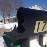 One of 33 mailboxes damaged in Kaukauna, Feb. 3, 2014. (Photo from: FOX 11).