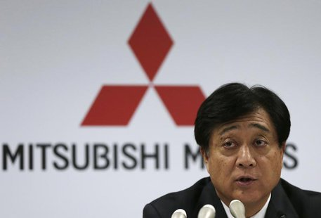 Mitsubishi Motors Corp President Osamu Masuko attends a news conference at the company headquarters in Tokyo April 25, 2013. REUTERS/Toru Ha