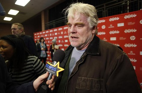 Actor Philip Seymour Hoffman attends the premiere of the film A Most Wanted Man at the Sundance Film Festival in Park City, Utah, January 19