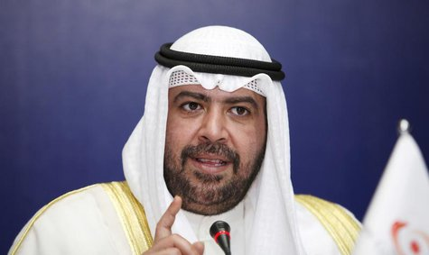 Olympic Council of Asia (OCA) President Sheikh Ahmad Al-Fahad Al-Sabah of Kuwait speaks during the opening of the 28th OCA General Assembly