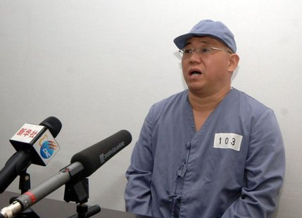 Kenneth Bae, a Korean-American Christian missionary who has been detained in North Korea for more than a year, appears before a limited numb