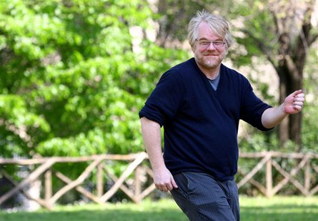 "Oscar winner Philip Seymour Hoffman smiles during a photo call for the World Premiere of the film ""Mission Impossible III"" in Rome in this A"