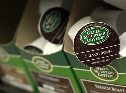 Green Mountain Coffee single-serve K-Cups are pictured in New York, in this file photo from May 3, 2012. REUTERS/Brendan McDermid/Files