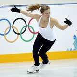 Ashley Wagner of the U.S. skates during a figure skating training sesssion in preparation for the 2014 Sochi Winter Olympics at the Iceberg