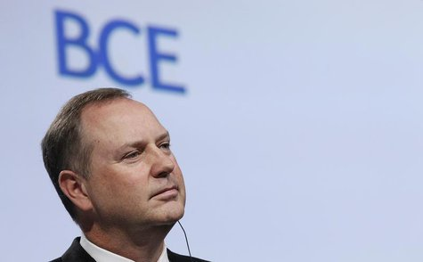 President and Chief Executive of Bell Canada Enterprises (BCE) Inc George Cope looks on during the annual general shareholders meeting at th