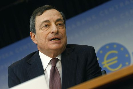 European Central Bank (ECB) President Mario Draghi attends the monthly ECB news conference in Frankfurt January 9, 2014. REUTERS/Ralph Orlow