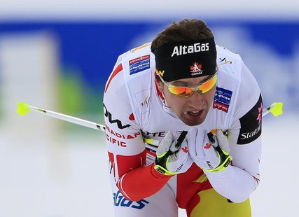 Ivan Babikov of Canada skis during the Cross Country men's 15km Individual Free Technique competition at the Nordic Ski World Championships