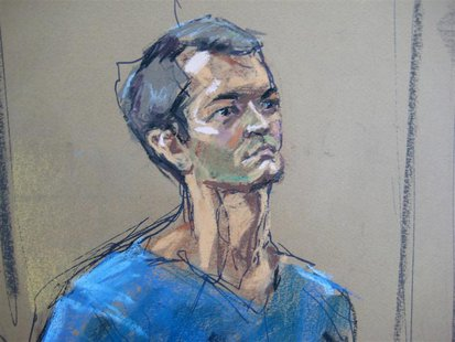 Ross Ulbricht , who prosecutors say created the underground online drugs marketplace Silk Road, makes an initial court appearance in New Yor