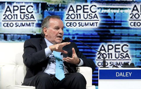 The former mayor of Chicago Richard M. Daley speaks during the APEC CEO summit in Honolulu, Hawaii November 11, 2011. REUTERS/Chris Wattie