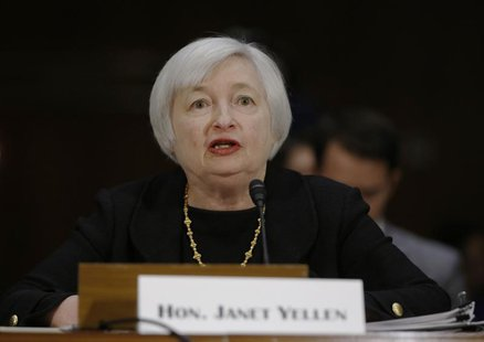 Janet Yellen, President Barack Obama's nominee to lead the U.S. Federal Reserve, testifies at her U.S. Senate Banking Committee confirmation
