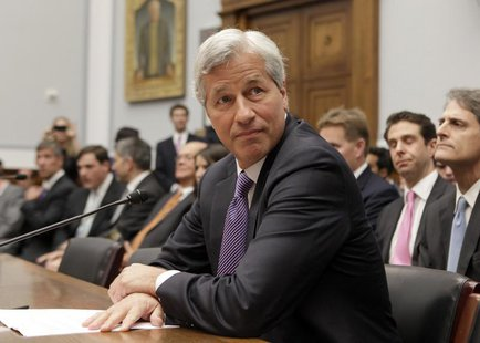"JPMorgan Chase & Co CEO Jamie Dimon testifies before the House Financial Services hearing on ""Examining Bank Supervision and Risk Management"