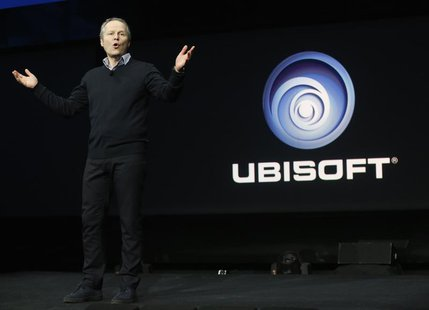 Ubisoft CEO Yves Guillemot speaks during the PlayStation 4 launch event in New York, February 20, 2013. REUTERS/Brendan McDermid