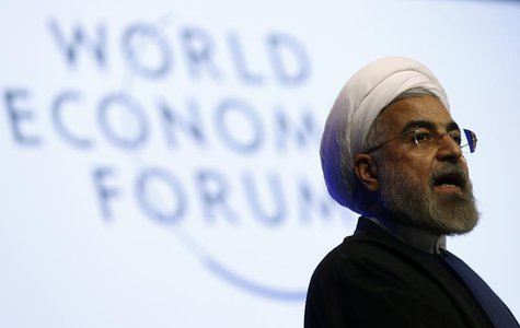 Iran's President Hassan Rouhani speaks during a session at the annual meeting of the World Economic Forum (WEF) in Davos January 23, 2014. R