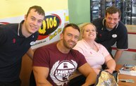 Q106 at Hungry Howie's (2-7-14) 6