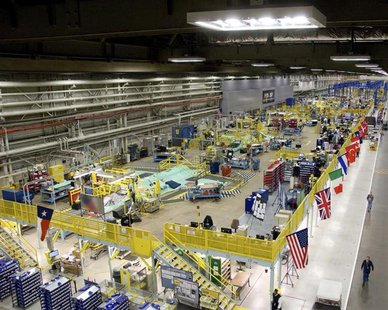 This March 22, 2010 handout image, released May 11, 2011, shows the Lockheed Martin plant in Fort Worth, Texas that builds F-35 fighter jets