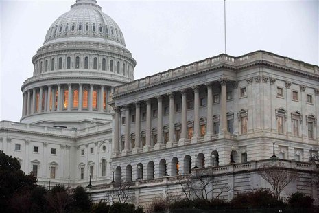 The Capitol Building stands in Washington December 17, 2012. REUTERS/Joshua Roberts