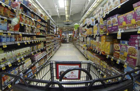 Breakfast cereal is shown for sale at a Ralphs grocery store in Del Mar, California, March 6, 2013 file photo. REUTERS/Mike Blake