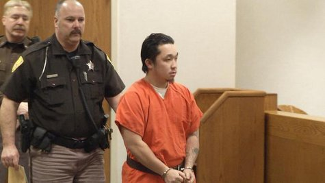 Chong Lee appears in Outagamie County Court for a preliminary hearing on Wednesday, Feb. 12, 2014. (Photo from: FOX 11).