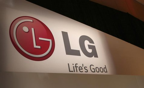 The LG company logo is seen following an event during the annual Consumer Electronics Show (CES ) in Las Vegas, Nevada January 6, 2014. REUT