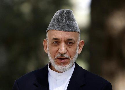 Afghan President Hamid Karzai speaks during a news conference in Kabul October 7, 2013. REUTERS/Mohammad Ismail